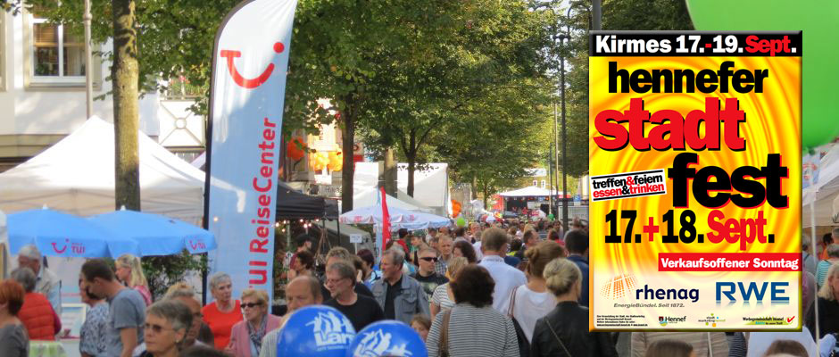 Hennefer Stadtfest 2016 am 17. und 18. September 2016