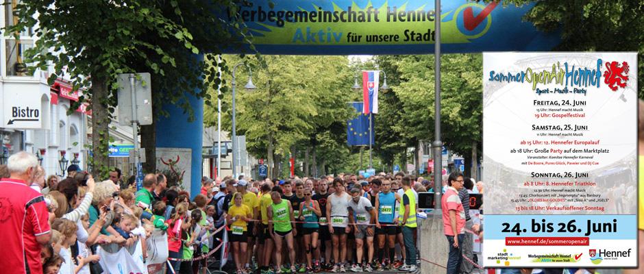 Europalauf und Sommer Openair in Hennef 2016