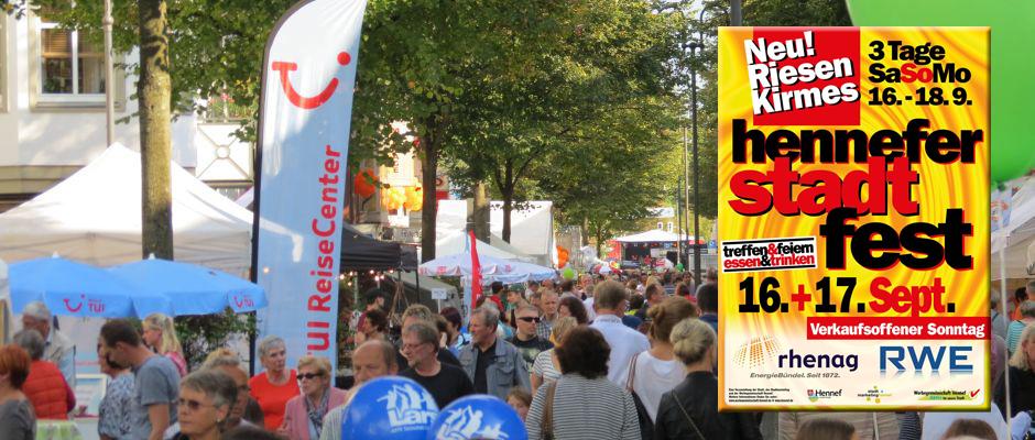 Stadtfest Hennef mit verkaufsoffenem Sonntag