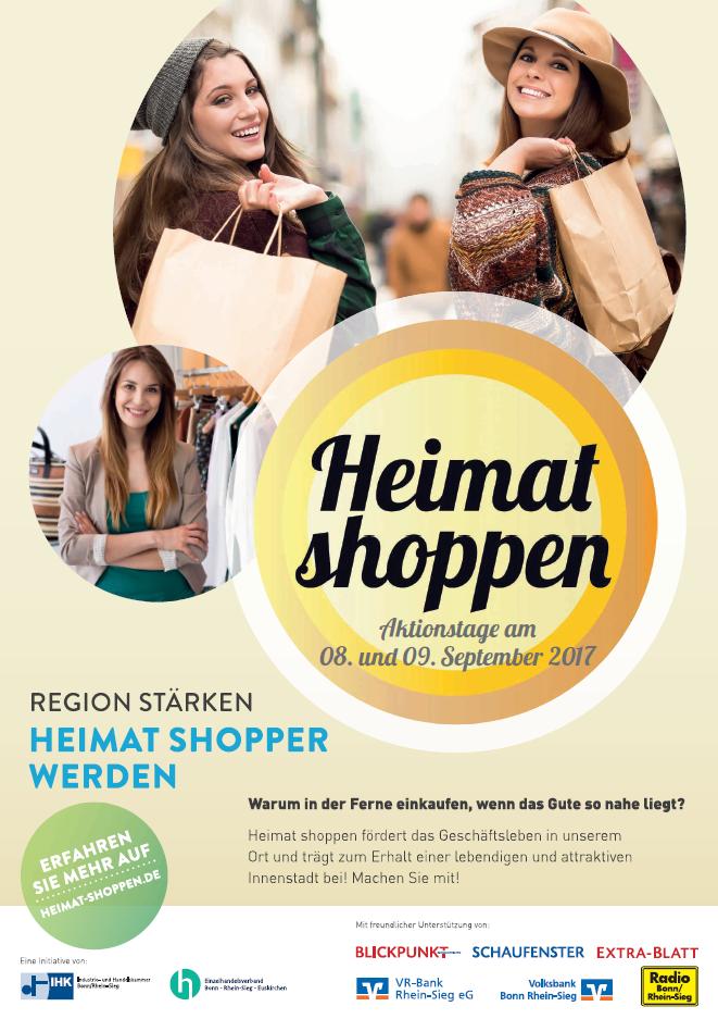 Heimat shoppen in Hennef 2017 - Plakat