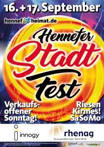 Stadtfest Hennef Plakat 2017