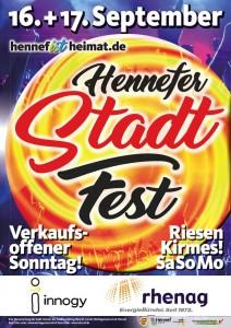 Stadtfest Hennef 2017 - Plakat