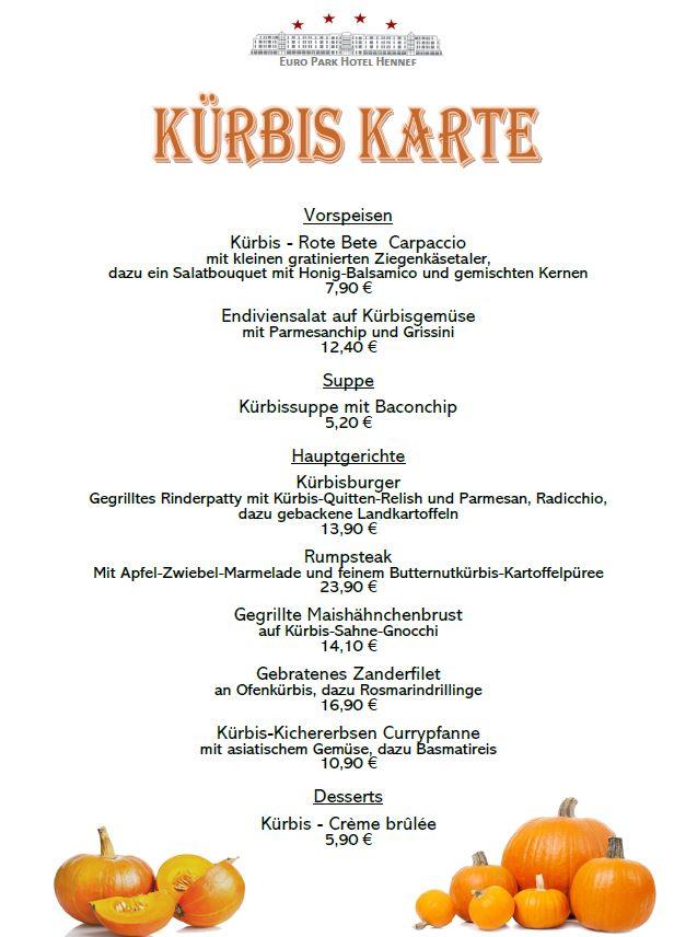 Kürbiskarte - Euro Park Hotel Hennef