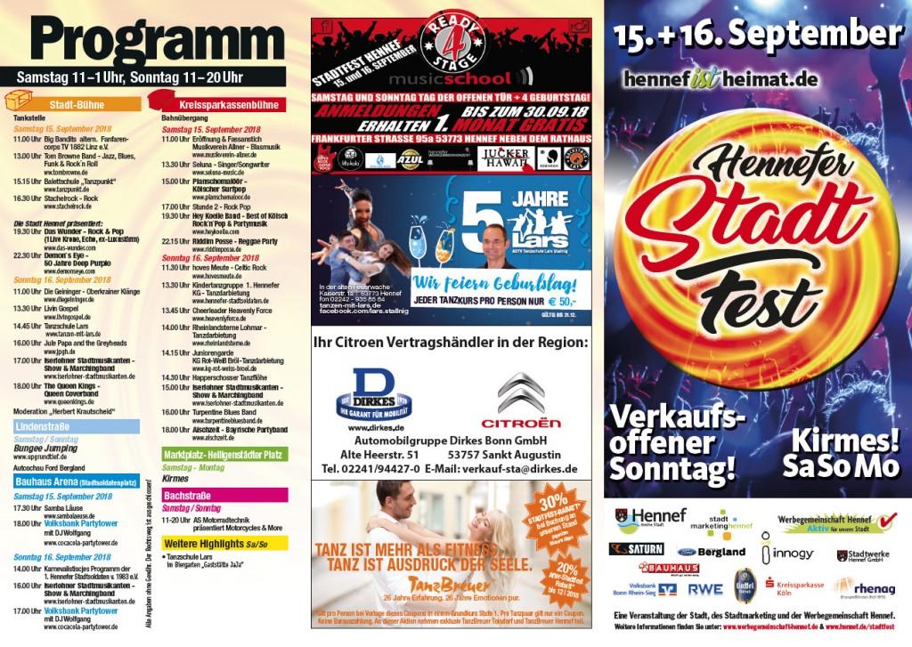 Flyer Stadtfest Hennef 2018 - Seite 1