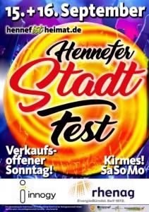 Plakat Stadtfest Hennef 2018