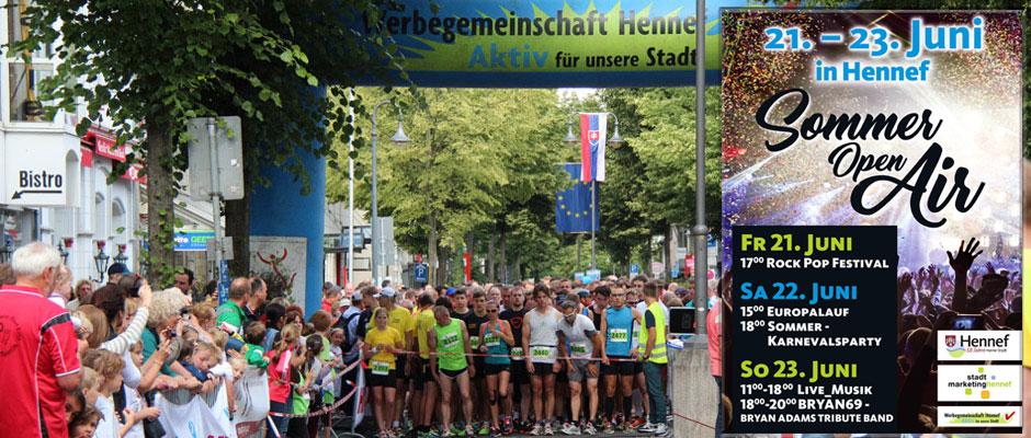 Europalauf und SommerOpenAir Hennef 2019