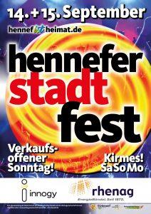 Plakat Stadtfest Hennef 2019