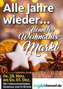 Plakat Weihnachtsmarkt Hennef 2019