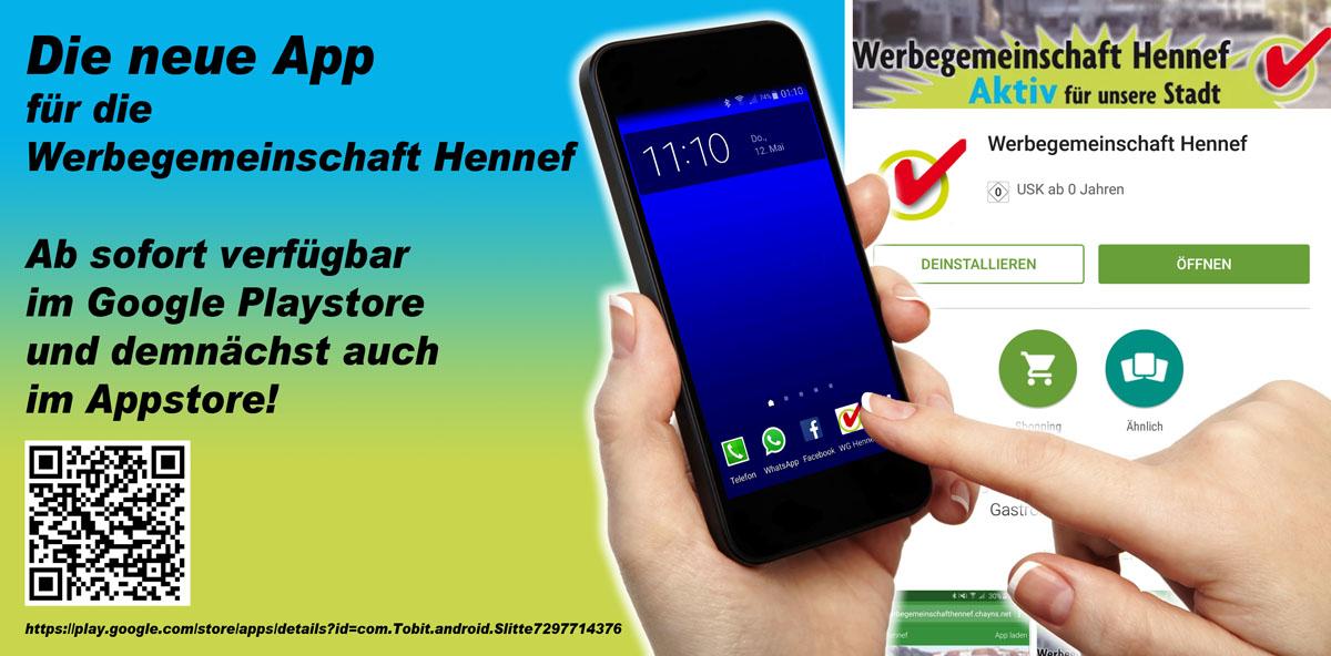 Die App der Werbegemeinschaft Hennef