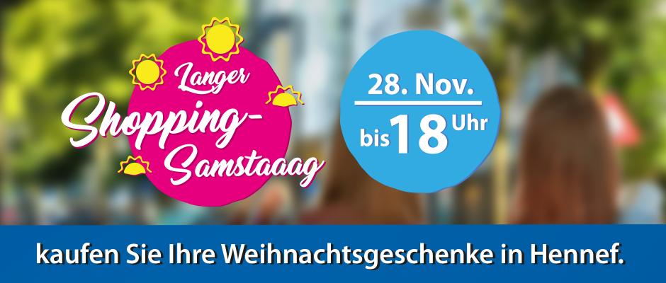 Langer Samstag am 28. November in Hennef