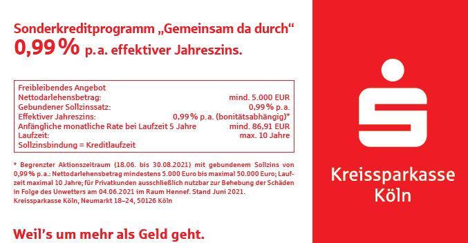 Sonderkreditprogramm der Kreissparkasse Köln